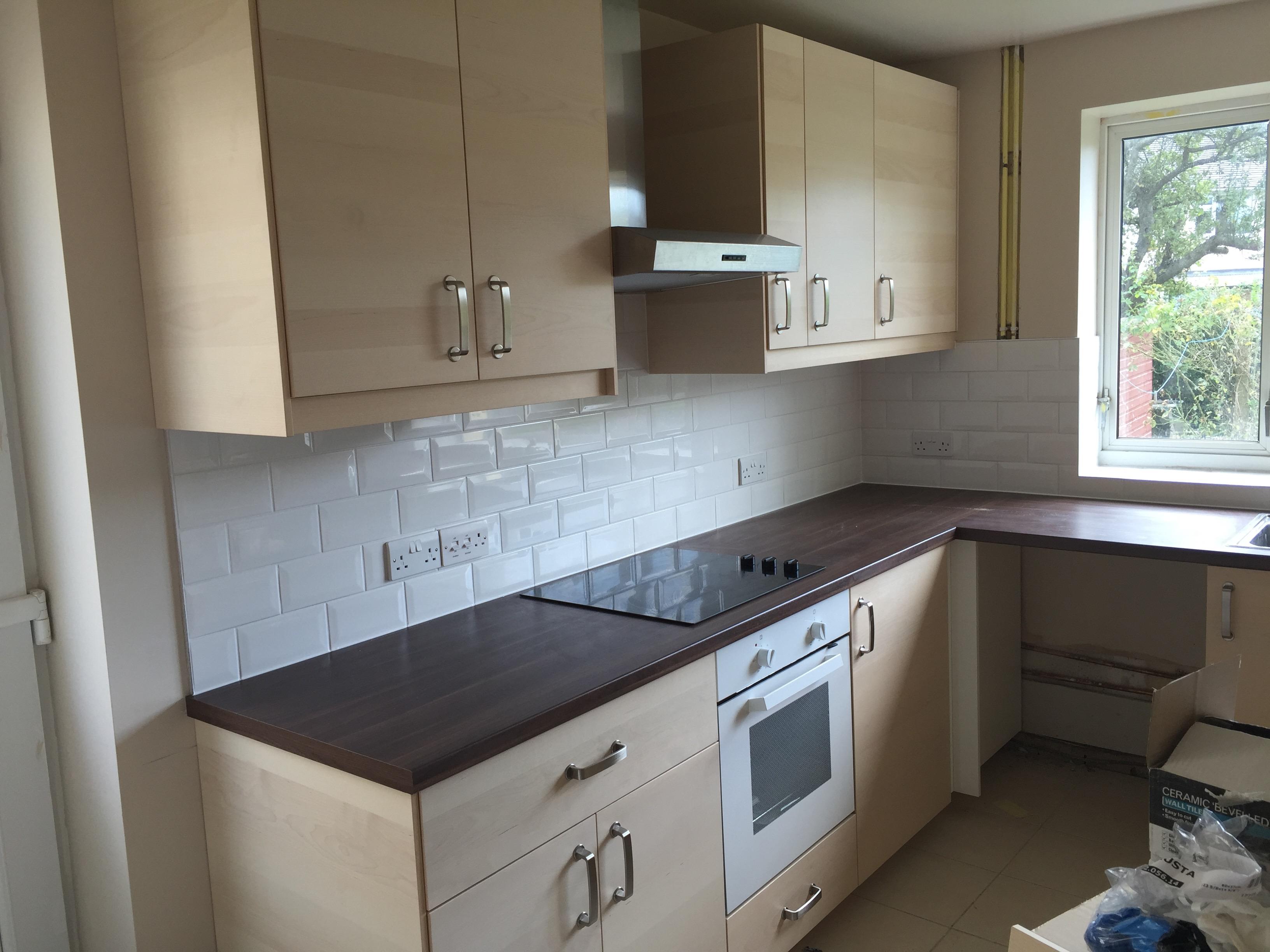 Kitchen Refit Birch with Walnut Worktops – Matt James Home Improvements